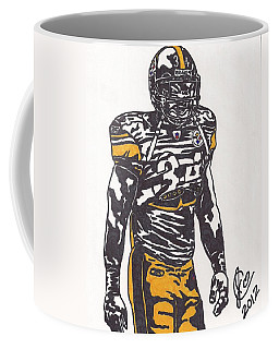 Coffee Mug featuring the drawing Rashard Mendenhall 2 by Jeremiah Colley