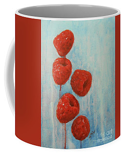 Coffee Mug featuring the painting Raspberries by Jane See