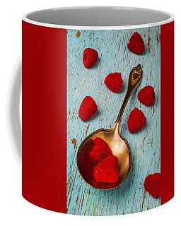 Raspberries With Antique Spoon Coffee Mug