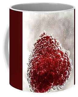 Raspberry Heart Coffee Mug by Lilia D