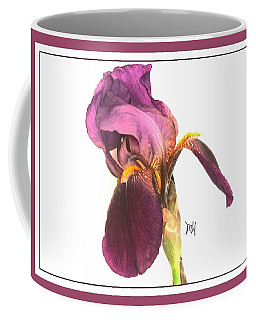 Raspberry Iris Coffee Mug