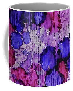 Coffee Mug featuring the painting Raspberry Rain Ink #19 by Sarajane Helm
