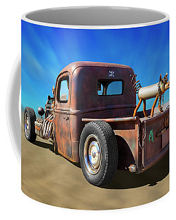 Coffee Mug featuring the photograph Rat Truck On Beach 2 by Mike McGlothlen