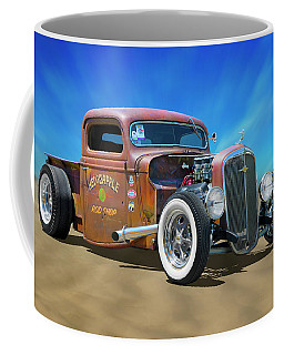 Coffee Mug featuring the photograph Rat Truck On The Beach by Mike McGlothlen