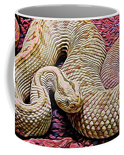 Rattlesnake In Abstract Coffee Mug