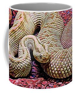 Rattlesnake In Abstract Coffee Mug