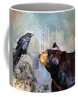 Raven And The Bear Coffee Mug