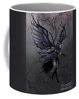 Coffee Mug featuring the digital art Raven Fairy by Stanley Morrison