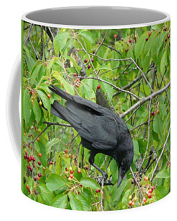 Raven In The Cherry Tree Coffee Mug