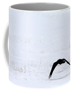 Raven In The Snow Coffee Mug
