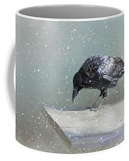 Raven In Winter Coffee Mug