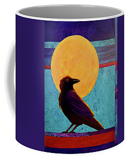 Coffee Mug featuring the painting Raven Moon by Nancy Jolley