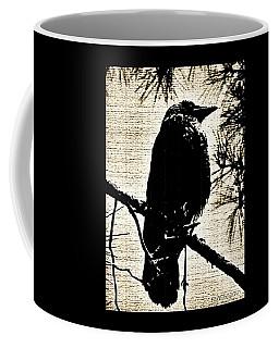 Raven On The Lookout Coffee Mug