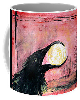 Coffee Mug featuring the painting Raven Steals The Sun by 'REA' Gallery