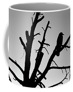 Coffee Mug featuring the photograph Raven Tree II Bw by David Gordon