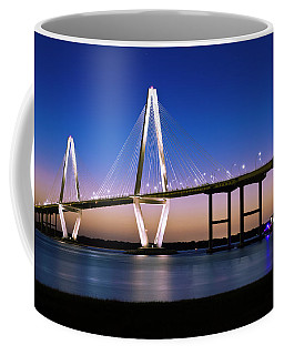 Coffee Mug featuring the photograph Ravenel Bridge 2 by Bill Barber