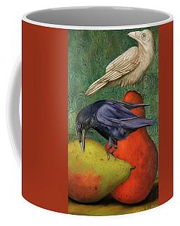 Ravens On Pears Coffee Mug