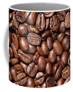 Raw Coffee Beans Background Coffee Mug