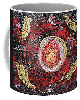 Raw Harmony Red And Gold Art Coffee Mug