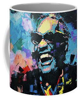 Coffee Mug featuring the painting Ray Charles by Richard Day
