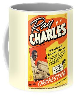 Ray Charles Rock N Roll Concert Poster 1950s Coffee Mug