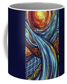 Coffee Mug featuring the painting Ray Of Hope 3 by Harsh Malik