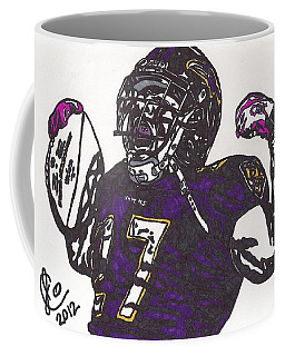 Coffee Mug featuring the drawing Ray Rice 1 by Jeremiah Colley