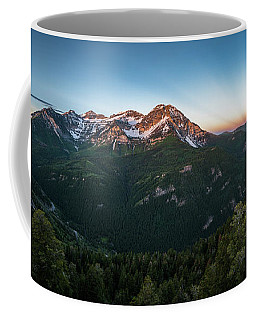 Rays Of Light Over Timpanogos Coffee Mug