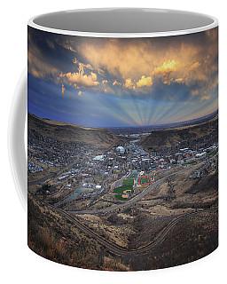 Rays Over Golden Coffee Mug