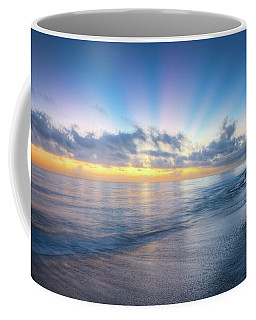 Coffee Mug featuring the photograph Rays Over The Reef by Debra and Dave Vanderlaan