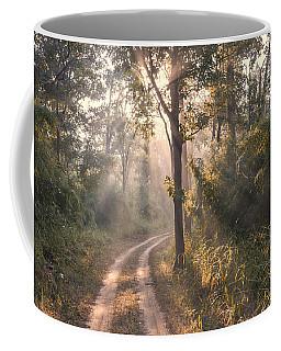 Rays Through Jungle Coffee Mug by Hitendra SINKAR