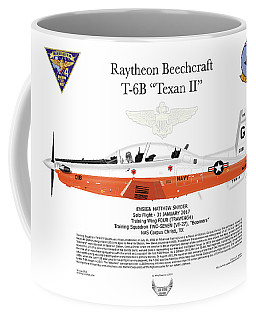Raytheon Beechcraft T-6b Texan II Ensign Snyder Coffee Mug by Arthur Eggers