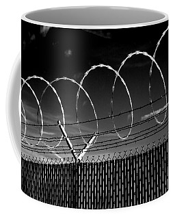 Razor Wire In The Sun Coffee Mug