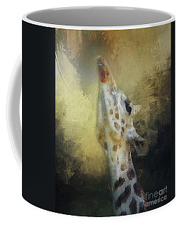 Reaching Giraffe Coffee Mug