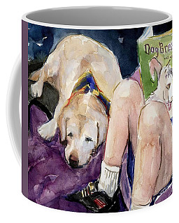 Coffee Mug featuring the painting Read To Me by Molly Poole