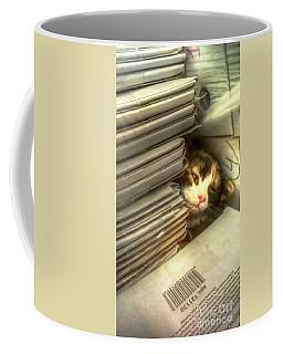 Reader Cat Coffee Mug by Yury Bashkin