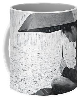 Reading In The Rain - Umbrella Coffee Mug