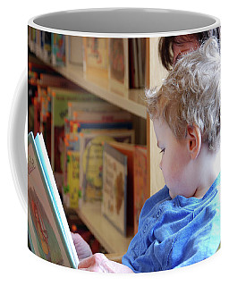 Reading Nurtures The Gardens Of The Mind Coffee Mug by John Schneider