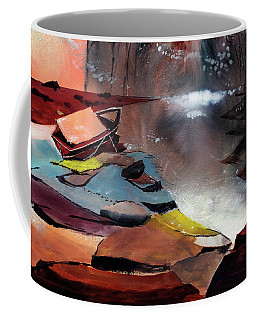 Coffee Mug featuring the painting Ready To Leave by Anil Nene
