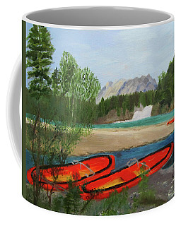 Coffee Mug featuring the painting Ready To Ride by Linda Feinberg