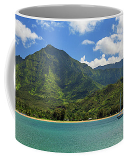 Ready To Sail In Hanalei Bay Coffee Mug by James Eddy