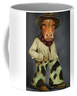 Real Cowboy 2 Coffee Mug by Leah Saulnier The Painting Maniac
