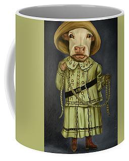 Real Cowgirl 2 Coffee Mug by Leah Saulnier The Painting Maniac