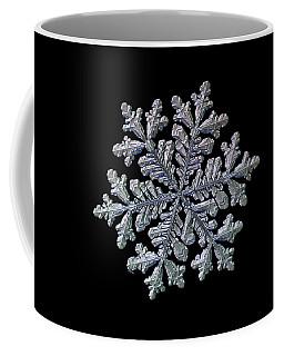 Real Snowflake - Hyperion Black Coffee Mug