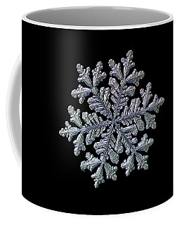 Real Snowflake - Hyperion Black Coffee Mug