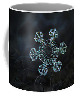 Coffee Mug featuring the photograph Real Snowflake - Ice Crown New by Alexey Kljatov