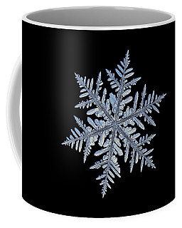 Real Snowflake - Silverware Black Coffee Mug