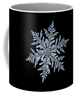 Real Snowflake - Silverware Black Coffee Mug