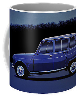 Renault 4 1961 Painting Coffee Mug
