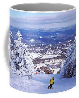 Rear View Of A Person Skiing, Stratton Coffee Mug